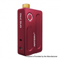 Authentic Artery PAL One Pro 1200mAh All in One Starter Kit 0.7ohm/1.2ohm/2ml - Red