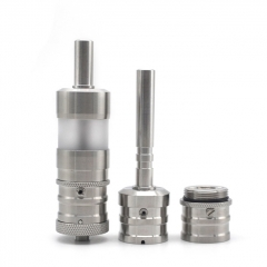 ULTON FEV V4.5 Style RTA Rebuildable Atomizer Single + Dual Airflows + Fev Dripper Kit - Silver