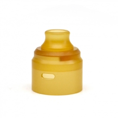 (Ships from Germany)ULTON Replacement PEI Cap + Drip Tip for Typhoon Wave BTD RDA 22mm - Yellow