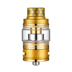 Authentic Nikola Lapetus 25mm Sub Ohm Tank Clearomizer 0.18ohm/6ml - Gold