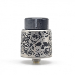 Authentic StageVape Venus 24mm RDA Rebuildable Dripping Atomizer w/ BF Pin - Silver Black