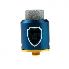Authentic Shield Cig Luxembourg 24mm RDA Rebuildable Dripping Atomizer - Blue