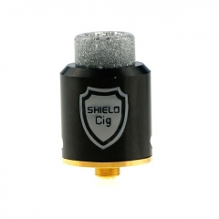 Authentic Shield Cig Luxembourg 24mm RDA Rebuildable Dripping Atomizer - Black