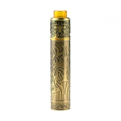 Authentic Shield Cig Redemption 18650 Hybrid Mechanical Mod + RDA Kit 24mm - Brass
