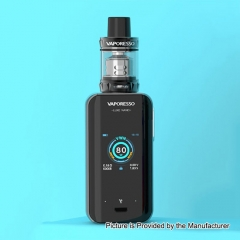 Authentic Vaporesso Luxe Nano 80W 2500mAh TC VW Box Mod + SKRR-S Mini Tank 0.15ohm/3.5ml Kit - Black
