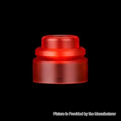 Authentic Gas Mods PMMA Replacement Color Cap for Nova RDA - Transparent Red