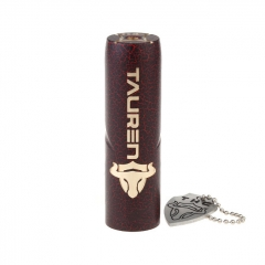 Authentic Thunderhead Creations THC  Tauren 18650/20700/21700 Mechanical Mod - Red Cracked