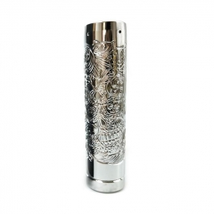 Lysten Pur Sugar Skull Style 18650/20700 Hybrid Mechanical Mod 24mm  - Silver