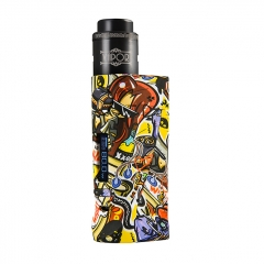 Vapor Storm Eco Pro Mod 80W 25mm VV/VW Temperature Control Mod w/ Hawk Tank 6ml Kit  - Cartoon