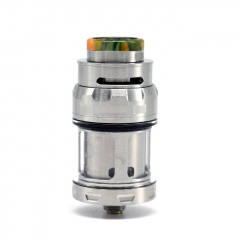 (Ships from Germany)ULTON Juggerknot Mini 24mm Style RTA Rebuildable Tank Atomizer 2/4.5ml (With Logo) - Silver