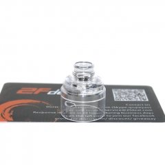 (Ships from Germany)ULTON Replacement PC Cap + Drip Tip for Typhoon Wave BTD RDA 22mm - Transparent