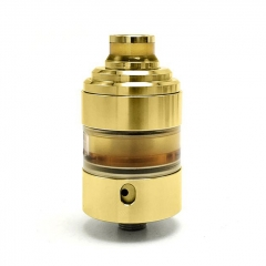 Hussar Project X Style 316SS 22mm RTA Rebuildable Tank Atomizer 2ml - Gold