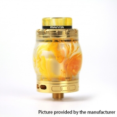 Authentic ADVKEN Manta 4.5ml Resin RTA Rebuildable Tank Atomizer - Gold
