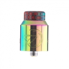 Rebirth Style 24mm RDA Rebuildable Dripping Atomizer w/ BF Pin - Rainbow