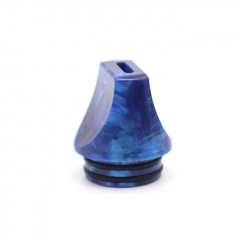 Authentic Clrane 810 Resin Replacement Flat Drip Tip 1pc - Blue