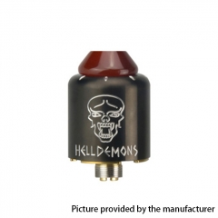 Authentic Ystar Hell Demons 20mm RDA Rebuildable Dripping Atomizer w/BF Pin - Gun Metal