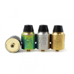 Doge V4 Style 24mm RDA Rebuildable Dripping Atomizer - Rainbow
