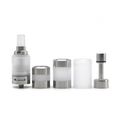 YFTK Ka v7 Style 23mm 316SS RTA Rebuildable Tank Atomizer 3ml Full Kit Version - Silver