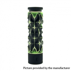 AV Medieval Gyre Mace Style 18650 Hybrid Mechanical Tube Mod 24mm - Black + Green