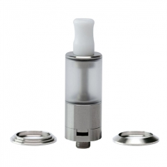 (Ships from Germany)ULTON Dvarw 16 Style 1:1 MTL RTA Rebuildable Tank Atomizer 2ml w/2 Beauty Rings - Silver