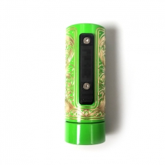 Vazzling Pur Slam Piece 30mm 18650/20700/21700/20650 Hybrid Mechanical Mod (Engraving Version) - Green