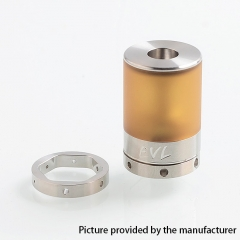 YFTK EVL Reaper V3 Style 316SS 22mm MTL RTA Rebuildable Tank Atomizer 2ml w/AFC Rings - Silver