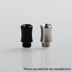 (Ships from Germany)Coppervape Replacement Drip Tip for Spica Pro Style MTL RTA 14.5mm (2pcs) - Black Silver