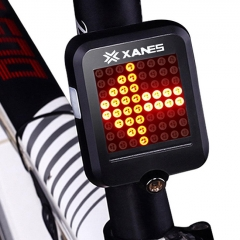 XANES STL-01 64 LED 80LM Intelligent Automatic Induction Steel Ring Brake Safety Bicycle Taillight with Infrared Laser Warning Waterproof Night Light