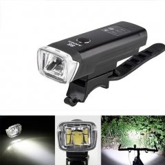 XANES SFL03 600LM XPG LED German Standard Smart Induction Bicycle Light IPX4 USB Rechargeable Large Flood Light - Black
