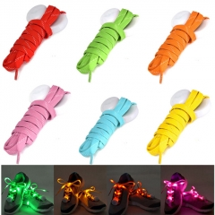 1 Pair Nylon LED Flashing Light Up Glow Shoelace - Green