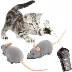 Scary RC Simulation Plush Mouse Toy with Remote Controller - Gray