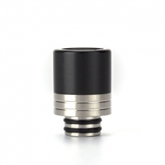(Ships from Germany)Coil Father 510 Anti Split Replacement Drip Tip (Type B)13mm 1pc - Black Silver