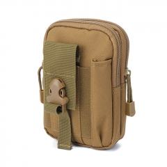 Xmund XD-DY4 5.5 Inch Outdoor EDC Tactical Molle Waist Bag Pack Men Cell Phone Case Wallet Pouch Holder For iphone 8 Xiaomi Camping Hiking - Khaki
