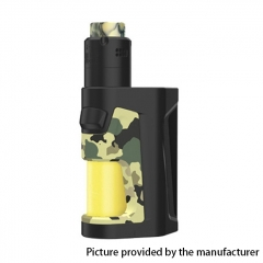 Authentic Vandy Vape Pulse Dual 220W TC VW Squonk Box Mod + Pulse V2 RDA Kit 24mm/7ml - Camouflage Yellow