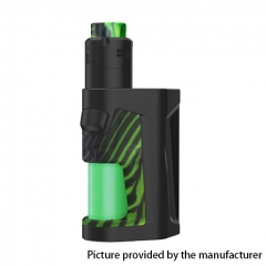 Authentic Vandy Vape Pulse Dual 220W TC VW Squonk Box Mod + Pulse V2 RDA Kit 24mm/7ml - Stripy Green