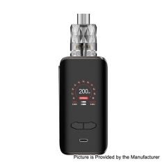 Authentic Augvape VX200 200W TC VV VW Variable Wattage Box Mod + Jewel Disposable Mesh Tank 3ml/0.15ohm Kit  - Gun Metal