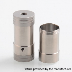 Vapeasy Corinne Style 22mm Hybrid 18350/18650 Mechanical Tube Mod - Silver