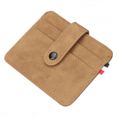 Baellerry Nubuck Leather Card Holder - Brown