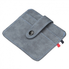 Baellerry Nubuck Leather Card Holder - Blue