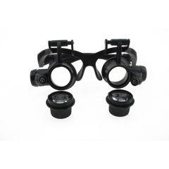 9892GJ Eye Glasses Style 10x/15x/20x/25x Loupe / Magnifier with LED Illumination 4 Magnifier Modes
