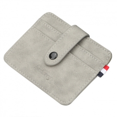 Baellerry Nubuck Leather Card Holder - Gray