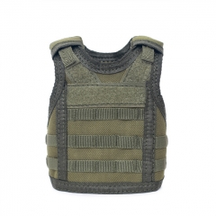Outdoor Military Decoration Mini Vest for Bottles - Army Green