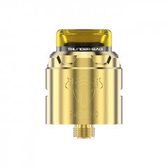 Authentic THC Tauren Solo 24mm RDA Rebuildable Dripping Atomizer w/BF Pin - Gold