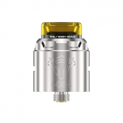 Authentic THC Tauren Solo 24mm RDA Rebuildable Dripping Atomizer w/BF Pin - Silver