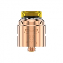 Authentic THC Tauren Solo 24mm RDA Rebuildable Dripping Atomizer w/BF Pin - Copper