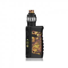 Authentic Vandy Vape Jackaroo 100W 18650/20700/21700 TC VW Variable Wattage Box Mod w/Tank 5ml/3.5ml Kit - Gold Agate