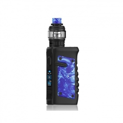 Authentic Vandy Vape Jackaroo 100W 18650/20700/21700 TC VW Variable Wattage Box Mod w/Tank 5ml/3.5ml Kit - Blue Porcelain