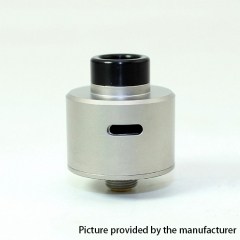 SXK WICK'D WICKD Style 316SS RDA Rebuildable Dripping Atomizer w/ BF Pin 22mm - Satin Silver