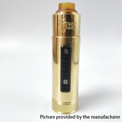 Vazzling Pur Slam Piece 30mm 18650/20700/21700/20650 Hybrid Mechanical Mod w/Shot RDA  - Gold