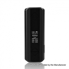 Authentic Hotcig G100 100W 18650/20700/21700 TC VW Variable Wattage Box Mod - Black
